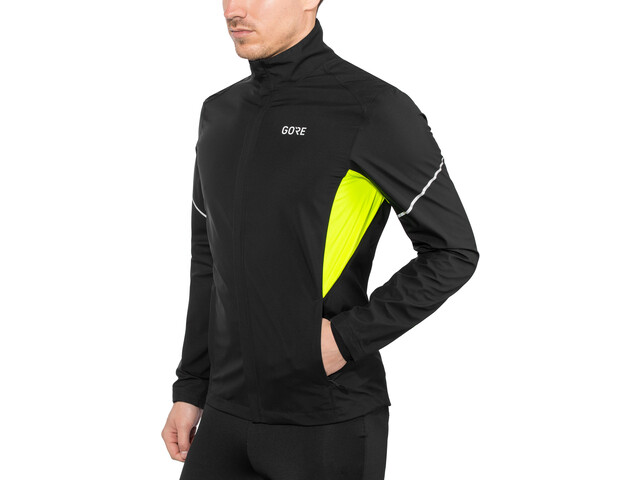 GORE WEAR R3 Partial Gore Windstopper Løbejakke Herrer, black/neon yellow